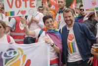 File photo: Rainbow Rose members at a Belgian Pride event